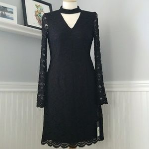Karl Lagerfeld Black Lace Dress Sz 4